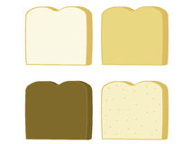 Bread slices. Of wheat white rye and pumpernickel isolate on a white background stock illustration