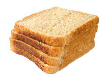 Bread slices. Brown bread slices royalty free stock image