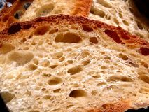 Bread slices 2. Handmade bread slices stock photography