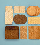 Bread slices Stock Images