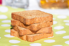 Bread slices. Close up of bread slices Royalty Free Stock Image