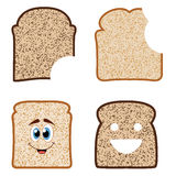 vector bread slices Stock Images