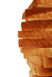 Bread in slices crust close-up Stock Photos