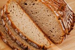 Bread slices of dark bread Stock Photos