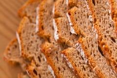 Bread slices of dark bread Royalty Free Stock Photos