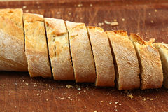 Bread in slices Stock Image