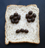 Bread slices with face Royalty Free Stock Image