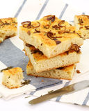 Bread slices focaccia Royalty Free Stock Image