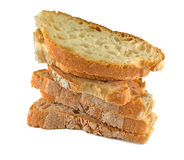 Bread slices isolated on white background Stock Photography
