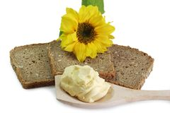 Bread Slices with Sunflower Oleo Royalty Free Stock Photo