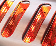 Bread Slices Toasting In Toaster