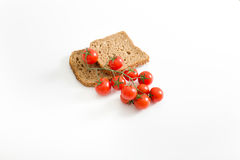 Bread slices with tomato Royalty Free Stock Photography