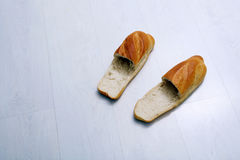 Bread slippers Stock Photo