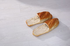 Bread slippers Royalty Free Stock Images
