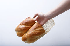 Bread slippers Royalty Free Stock Photos