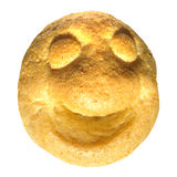 Bread smiley Stock Image