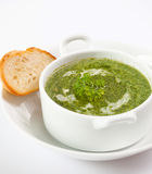 Bread and soup Stock Image