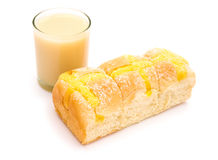 Bread and soya milk Royalty Free Stock Photo