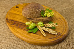 Bread spikelets hop Stock Images