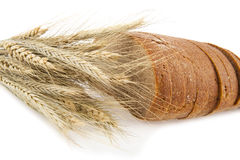 Bread and spikelets Royalty Free Stock Photo