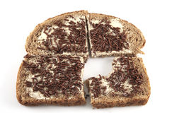Bread with sprinkles Stock Photography
