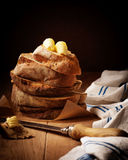 Bread Stack Stock Photo