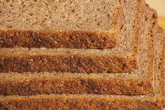 Bread stacked pyramid. The rye bread stacked pyramid Stock Image
