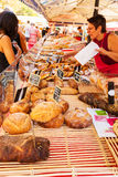 Bread stall at the market in Nice. France Stock Photography