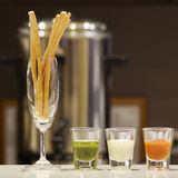 Bread stick in luxury hotel Stock Images