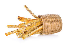 Bread stick with sesame Stock Images