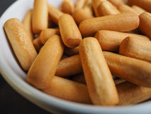 Bread Sticks in bowl Stock Photos