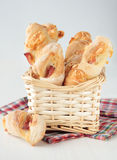 Bread sticks with cheese and bacon Royalty Free Stock Photography
