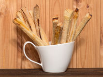 Bread sticks with cheese Stock Image