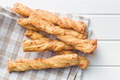 Bread sticks with cheese Stock Photography