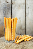 Bread sticks in a glass Royalty Free Stock Image