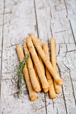 Bread sticks grissini with rosemary Royalty Free Stock Photo
