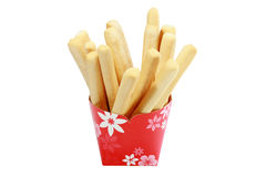 Bread sticks isolated on white Royalty Free Stock Photos
