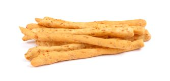 Bread sticks isolated on a white background stock photos