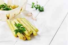 Bread sticks with parsley Royalty Free Stock Photos