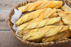 Bread sticks with penaut Stock Photos