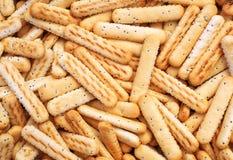 Bread sticks with poppy seeds Royalty Free Stock Photo