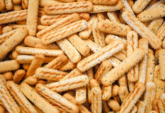 Bread sticks with poppy seeds Stock Image