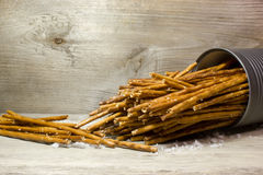 Bread sticks with salt Royalty Free Stock Images