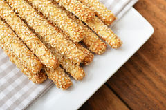Bread sticks with sesame Stock Photo