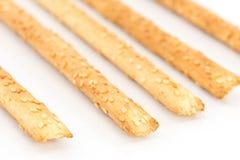 Bread sticks with sesame seeds Stock Photo