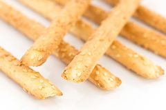 Bread sticks with sesame seeds Stock Image