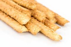 Bread sticks with sesame seeds Stock Photos