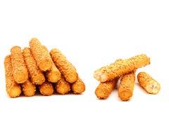 Bread sticks on white background. Bread sticks with sesam on white background Stock Photo