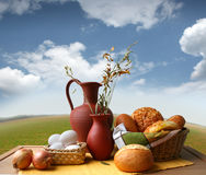 BREAD STILL LIFE royalty free stock images