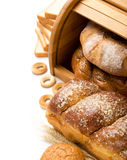 Bread still life with space Stock Images